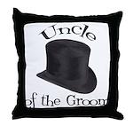 Top Hat Bride's Cousin Throw Pillow