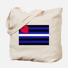 Leather Flag Tote Bag