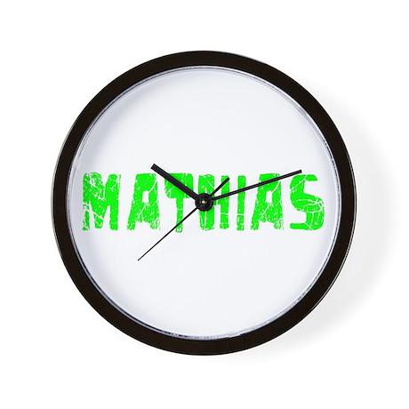 Mathias Faded (Green) Wall Clock