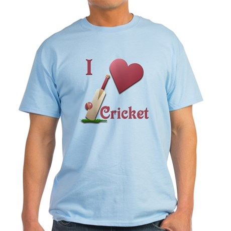 I Love Cricket Light T-Shirt