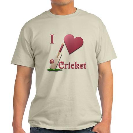I Love Cricket Light T-Shirt