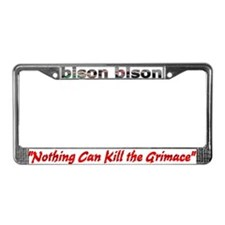 Cute Bison License Plate Frame