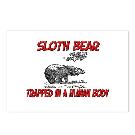 Sloth Bear trapped in a human body Postcards (Pack