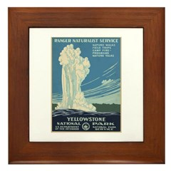 Yellowstone National Park Framed Tile