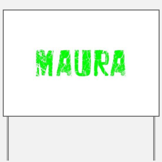 Maura Faded (Green) Yard Sign