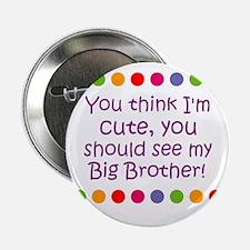 """You think I'm cute, you shoul 2.25"""" Button (10 pac"""