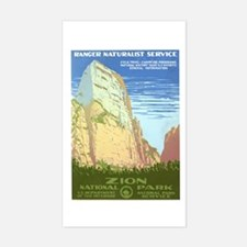 Zion National Park Rectangle Decal