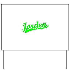 Retro Jorden (Green) Yard Sign