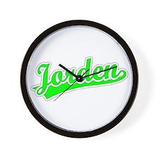 Retro Jorden (Green) Wall Clock