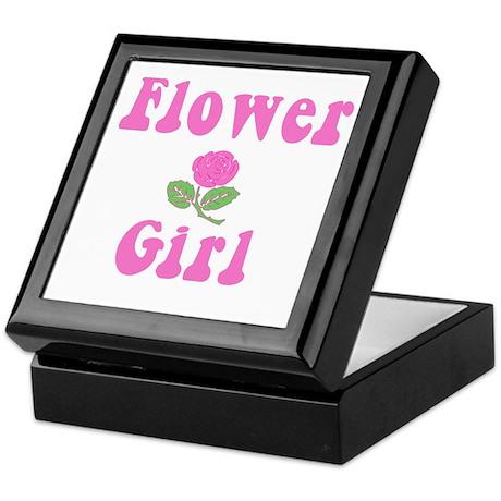 Flower Girl with Pink Rose Keepsake Box