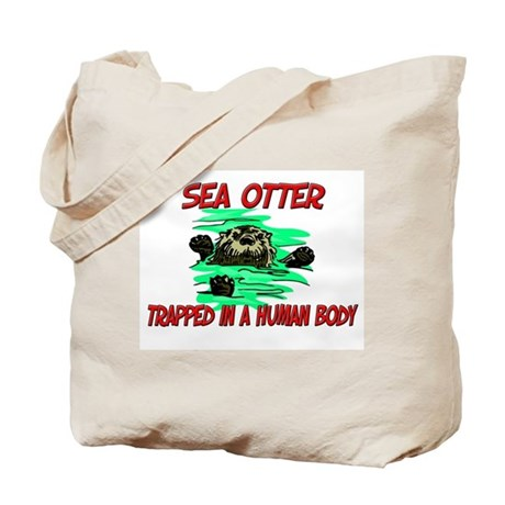 Sea Otter trapped in a human body Tote Bag