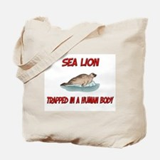Sea Lion trapped in a human body Tote Bag
