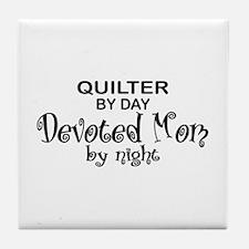 Quilter Devoted Mom Tile Coaster
