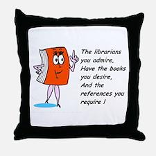 Fun library cartoon Throw Pillow