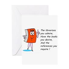 Fun library cartoon Greeting Card