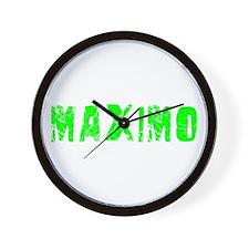 Maximo Faded (Green) Wall Clock
