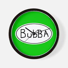Hand Scrawled Bubba Euro Oval Wall Clock