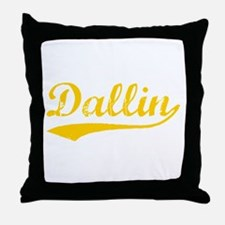 Vintage Dallin (Orange) Throw Pillow