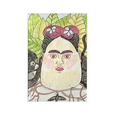 Frida Egg Rectangle Magnet
