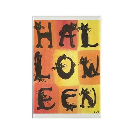 Halloween Cats Rectangle Magnet