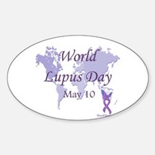 World Lupus Day Oval Decal