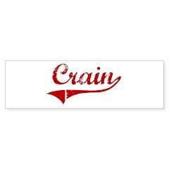 Crain (red vintage) Bumper Sticker (50 pk)