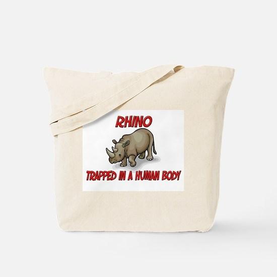 Rhino trapped in a human body Tote Bag