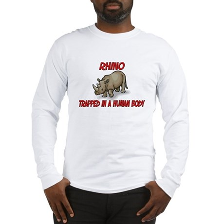Rhino trapped in a human body Long Sleeve T-Shirt