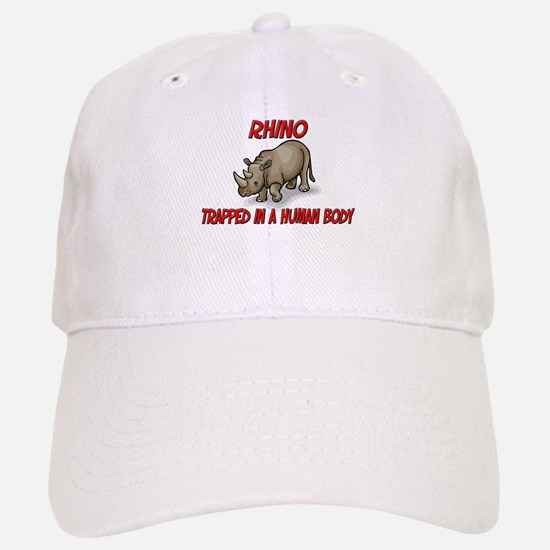 Rhino trapped in a human body Baseball Baseball Cap