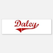 Daley (red vintage) Bumper Bumper Bumper Sticker