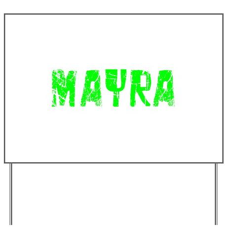Mayra Faded (Green) Yard Sign