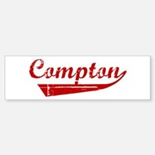 Compton (red vintage) Bumper Bumper Bumper Sticker