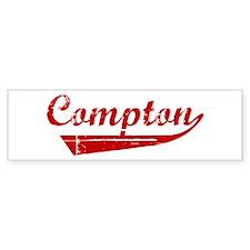Compton (red vintage) Bumper Bumper Sticker