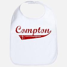 Compton (red vintage) Bib