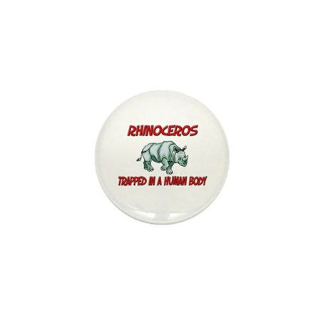 Rhinoceros trapped in a human body Mini Button (10