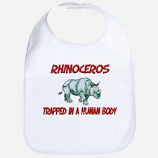 Rhinoceros trapped in a human body Bib