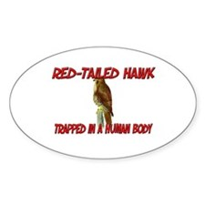 Red-Tailed Hawk trapped in a human body Decal
