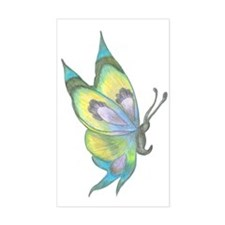 Dark Queen Butterfly Rectangle Bumper Stickers