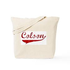 Colson (red vintage) Tote Bag