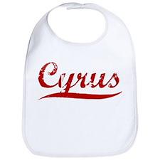 Cyrus (red vintage) Bib