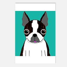 Boston Terrier (Dark Brindle) Postcards (Package o
