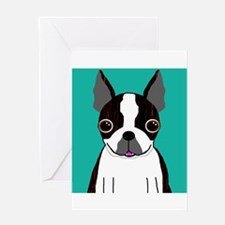 Boston Terrier (Dark Brindle) Greeting Card
