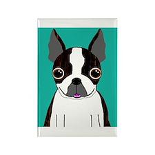 Boston Terrier (Dark Brindle) Rectangle Magnet (10