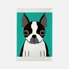 Boston Terrier (Dark Brindle) Rectangle Magnet