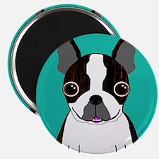 """Boston Terrier (Dark Brindle) 2.25"""" Magnet (10 pac"""