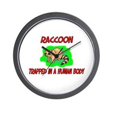 Raccoon trapped in a human body Wall Clock
