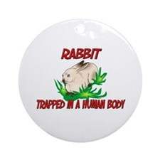 Rabbit trapped in a human body Ornament (Round)