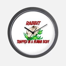 Rabbit trapped in a human body Wall Clock