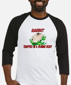 Rabbit trapped in a human body Baseball Jersey