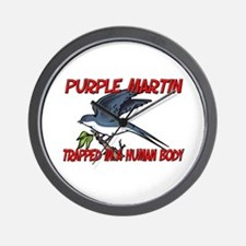 Purple Martin trapped in a human body Wall Clock